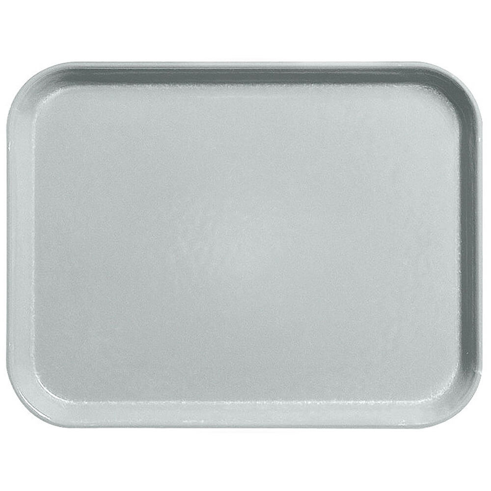 "Steel White, 10"" x 14"" Fiberglass Food Trays, Economy Line, 12/PK"