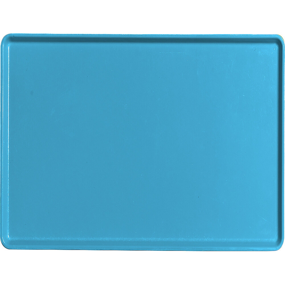 "Horizon Blue, 12"" x 16"" Healthcare Food Trays, Low Profile, 12/PK"