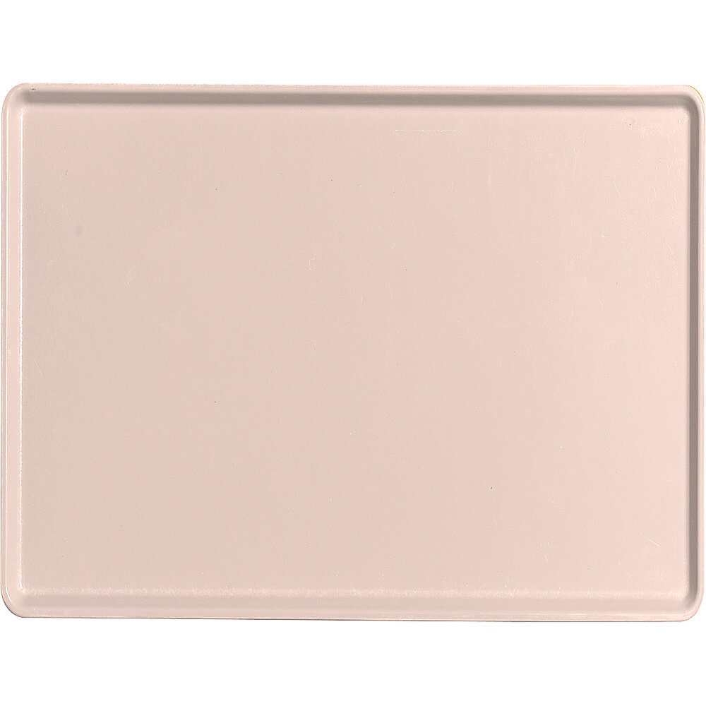 "Light Peach, 12"" x 16"" Healthcare Food Trays, Low Profile, 12/PK"