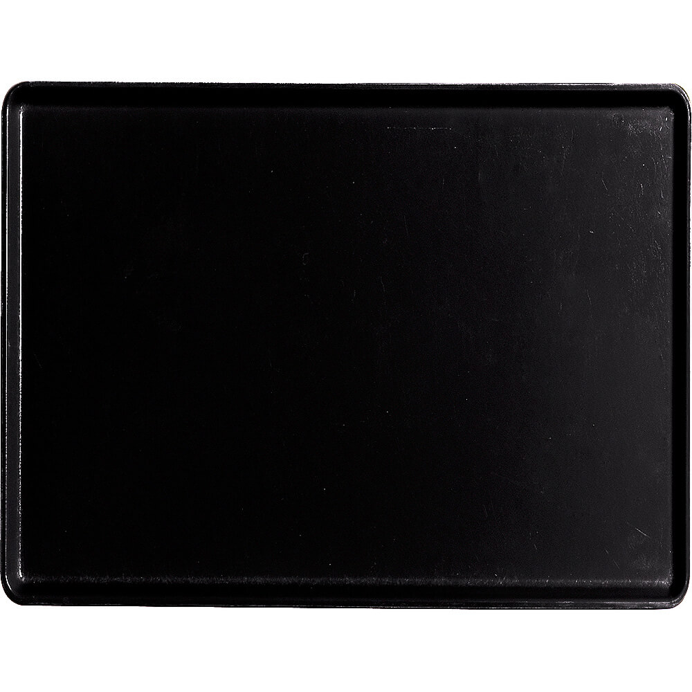 "Black, 12"" x 16"" Healthcare Food Trays, Low Profile, 12/PK"