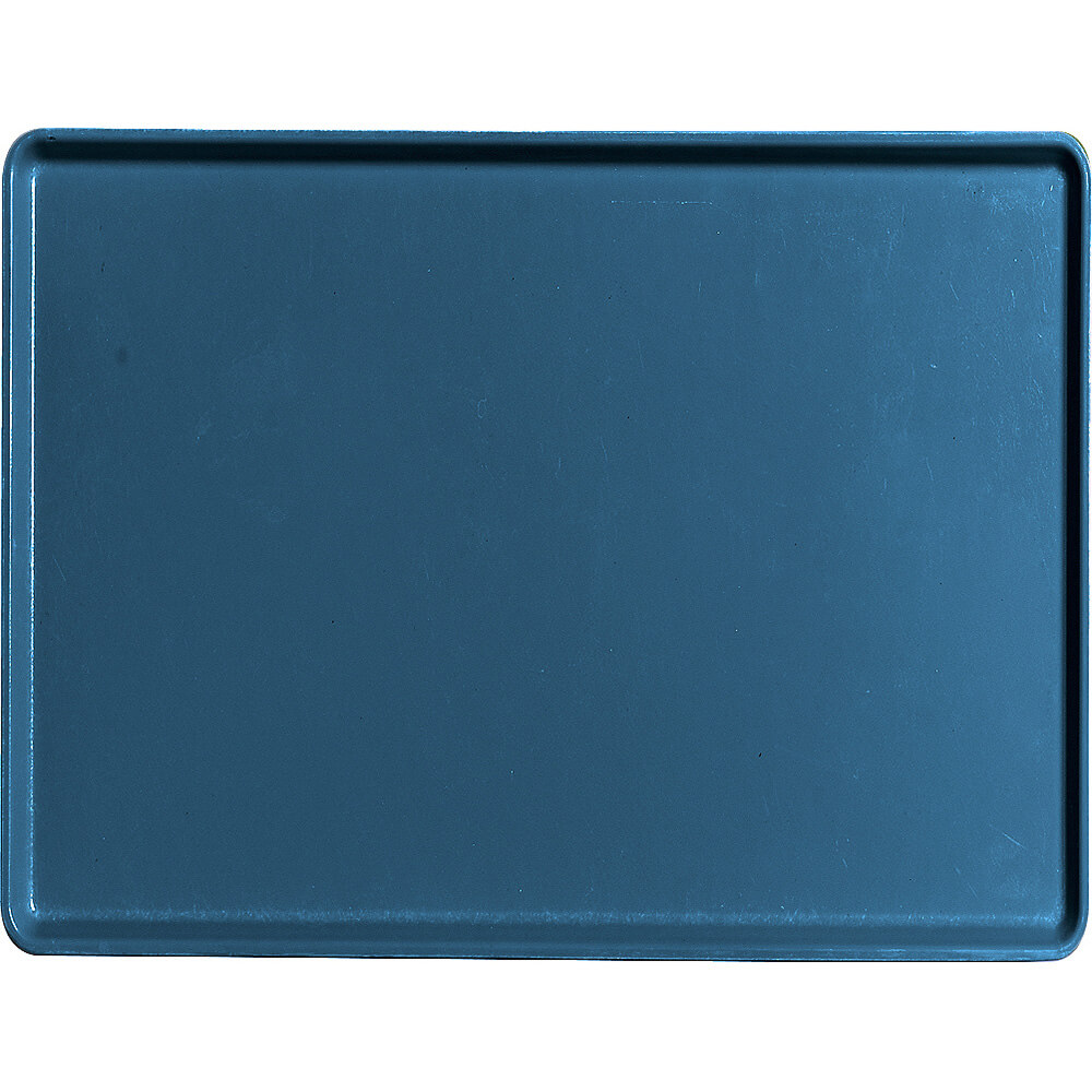 "Amazon Blue, 12"" X 16"" Healthcare Food Trays, Low Profile, 12/PK"