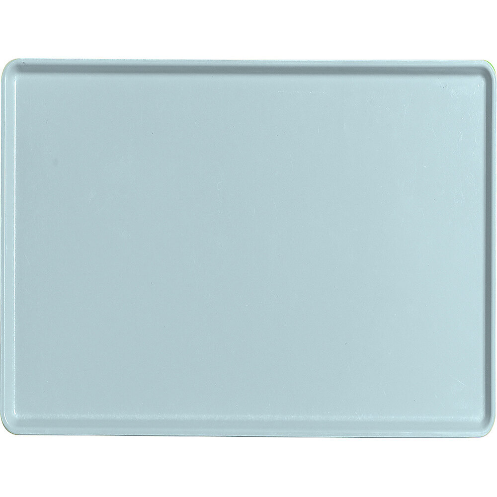 "Sky Blue, 12"" x 16"" Healthcare Food Trays, Low Profile, 12/PK"
