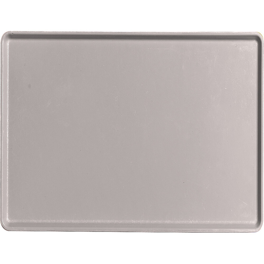 "Taupe, 12"" x 16"" Healthcare Food Trays, Low Profile, 12/PK"