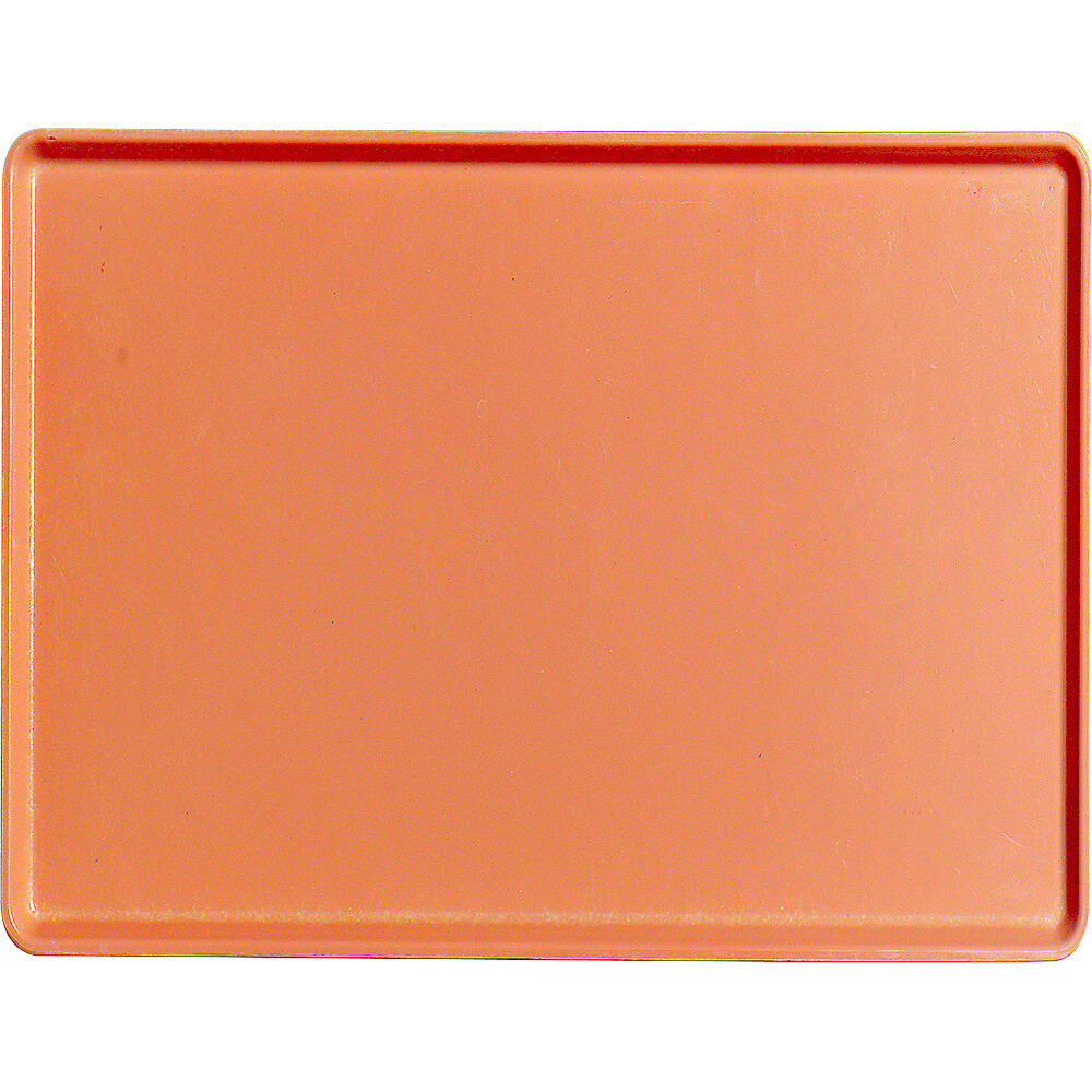 "Orange Pizazz, 12"" x 16"" Healthcare Food Trays, Low Profile, 12/PK"