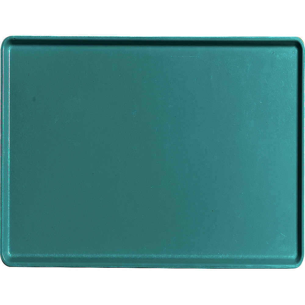 "Teal, 12"" x 16"" Healthcare Food Trays, Low Profile, 12/PK"