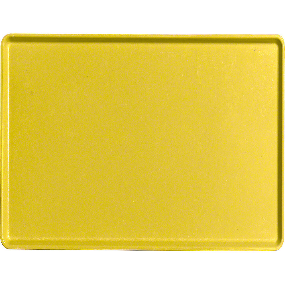 "Mustard, 12"" x 16"" Healthcare Food Trays, Low Profile, 12/PK"