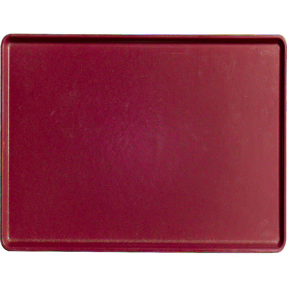 "Cherry Red, 12"" x 16"" Healthcare Food Trays, Low Profile, 12/PK"