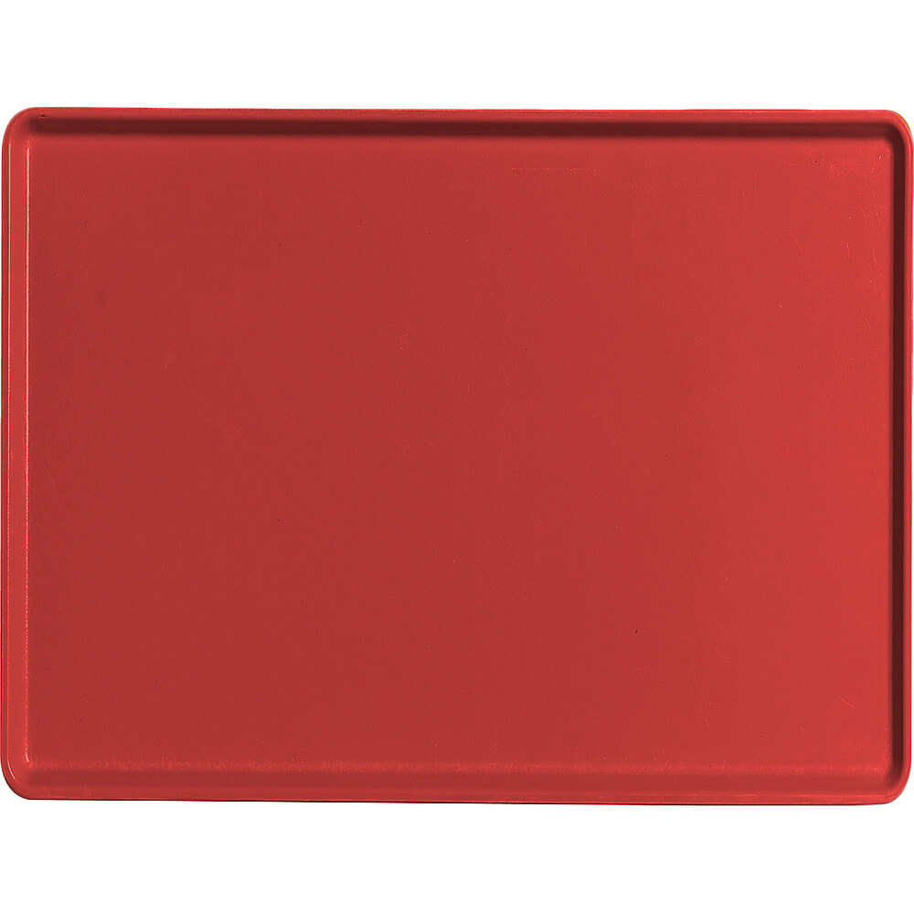 "Cambro Red, 12"" x 16"" Healthcare Food Trays, Low Profile, 12/PK"