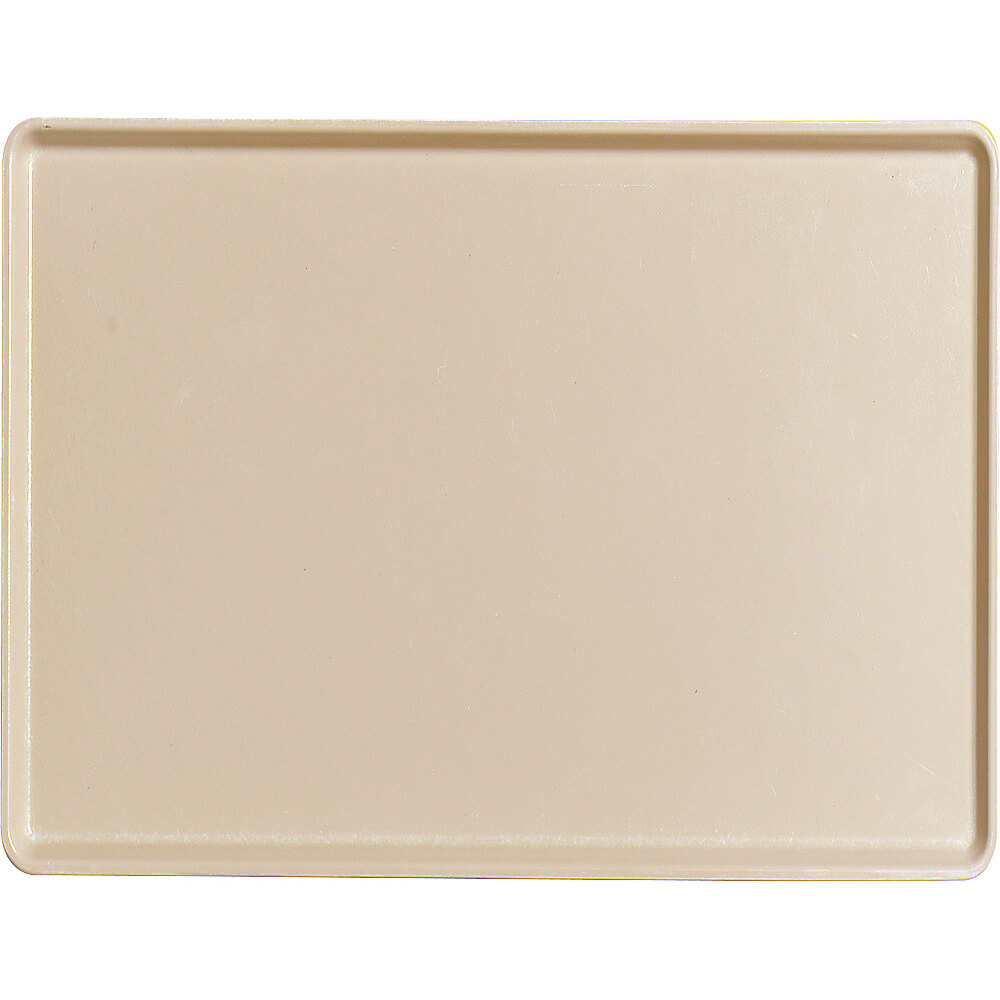"Cameo Yellow, 12"" x 16"" Healthcare Food Trays, Low Profile, 12/PK"