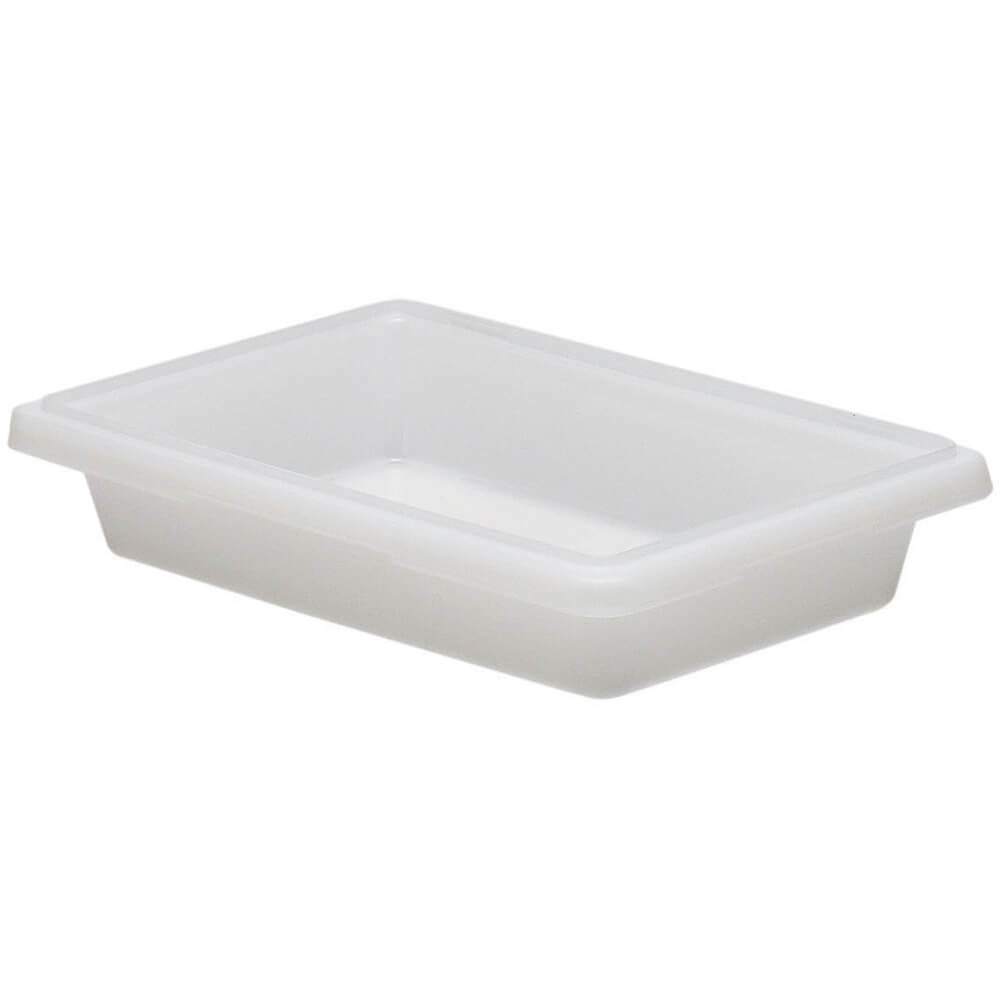White, 1.75 Gal. Food Storage Boxes, Poly, 6/PK