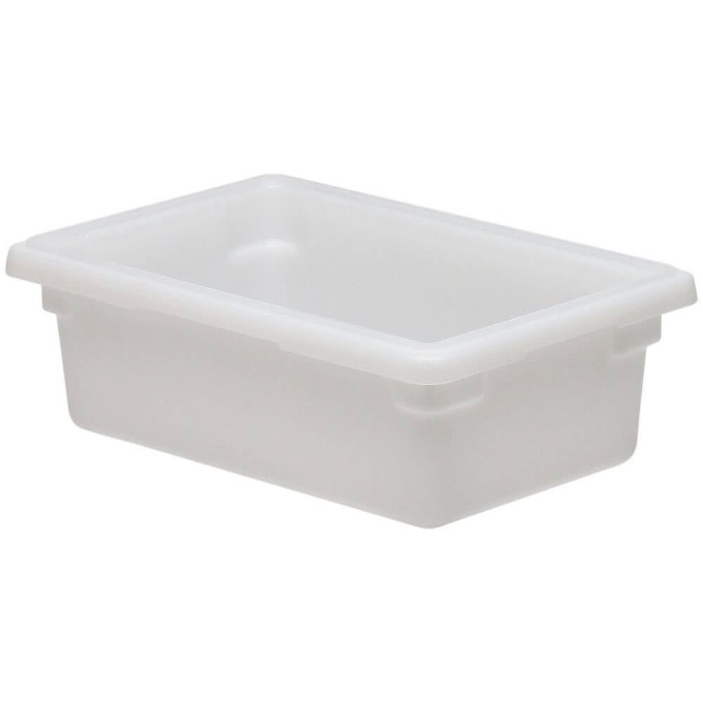 White, 3.0 Gal. Food Storage Boxes, Poly, 6/PK
