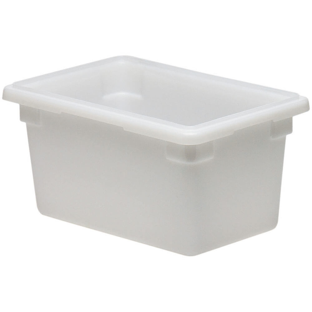 White, 4.75 Gal. Food Storage Boxes, Poly, 6/PK