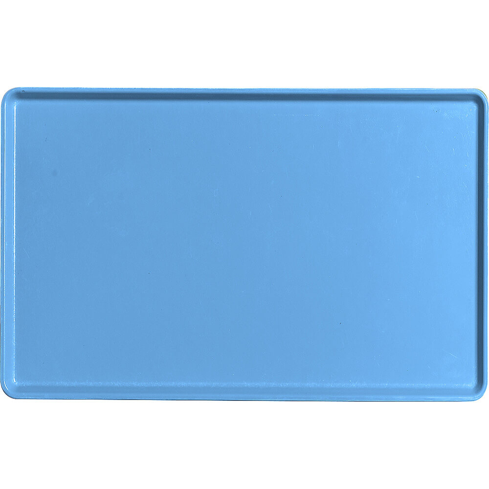 "Horizon Blue, 12"" x 19"" Healthcare Food Trays, Low Profile, 12/PK"