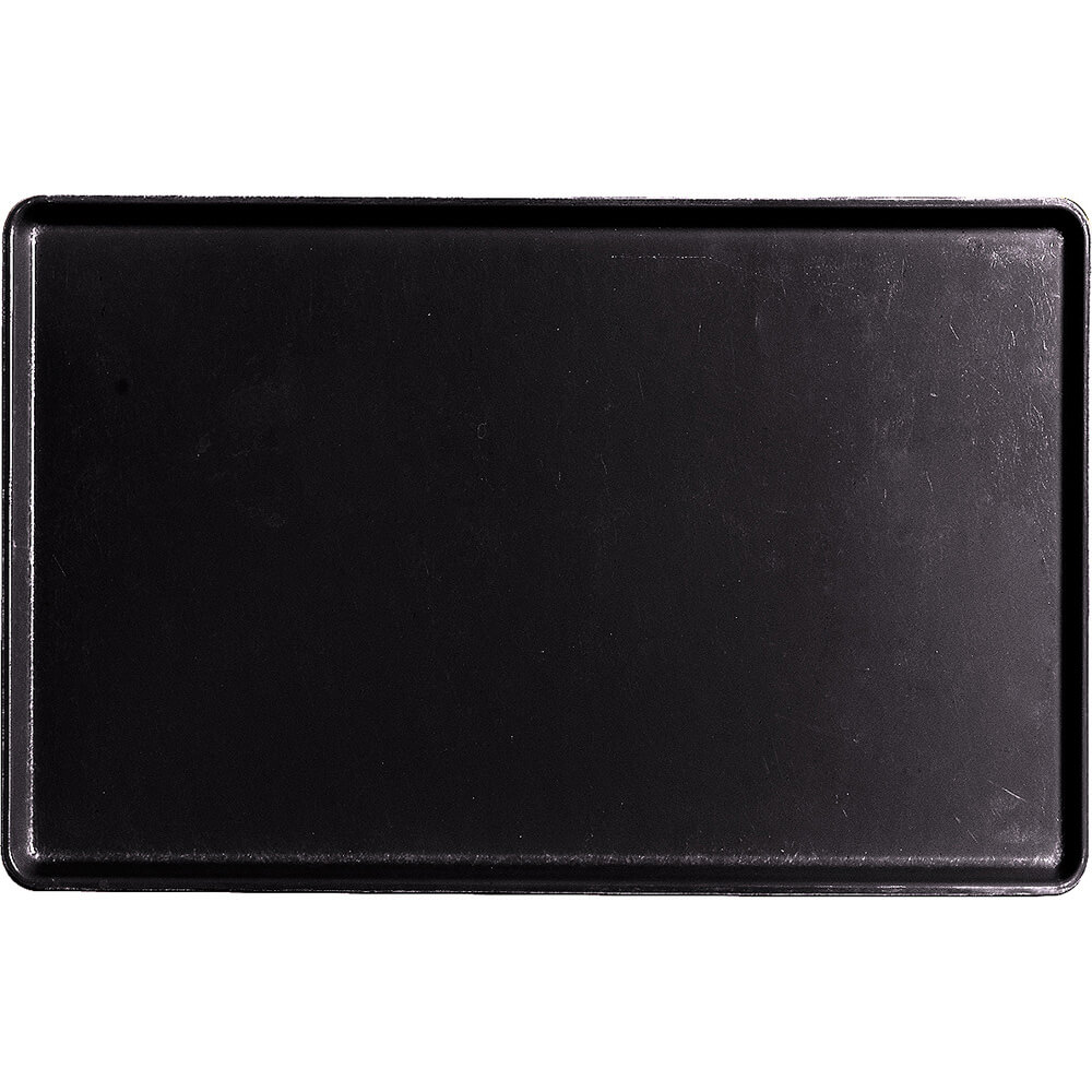 "Black, 12"" x 19"" Healthcare Food Trays, Low Profile, 12/PK"