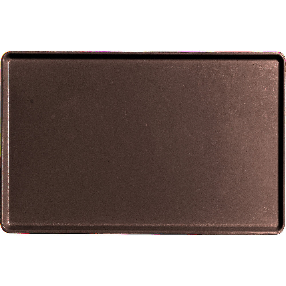 "Brazil Brown, 12"" x 19"" Healthcare Food Trays, Low Profile, 12/PK"