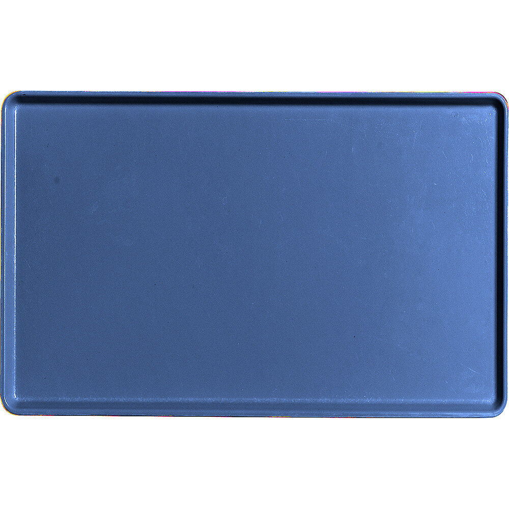 "Amazon Blue, 12"" X 19"" Healthcare Food Trays, Low Profile, 12/PK"