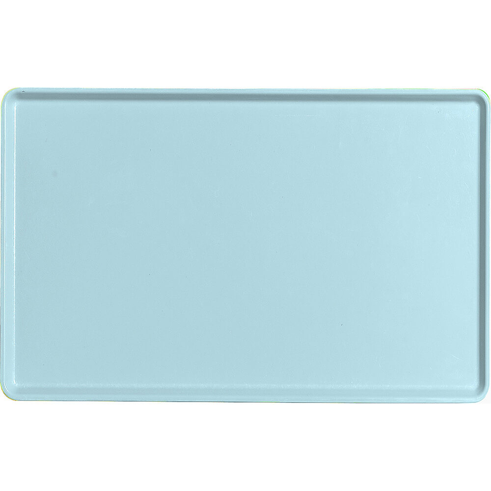 "Sky Blue, 12"" x 19"" Healthcare Food Trays, Low Profile, 12/PK"