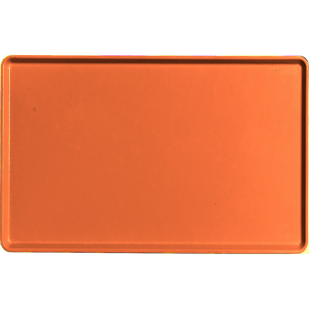 "Citrus Orange, 12"" x 19"" Healthcare Food Trays, Low Profile, 12/PK"