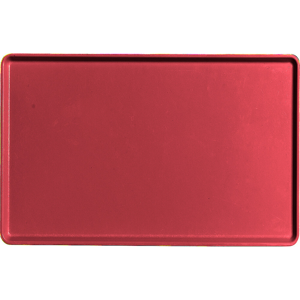 "Ever Red, 12"" x 19"" Healthcare Food Trays, Low Profile, 12/PK"