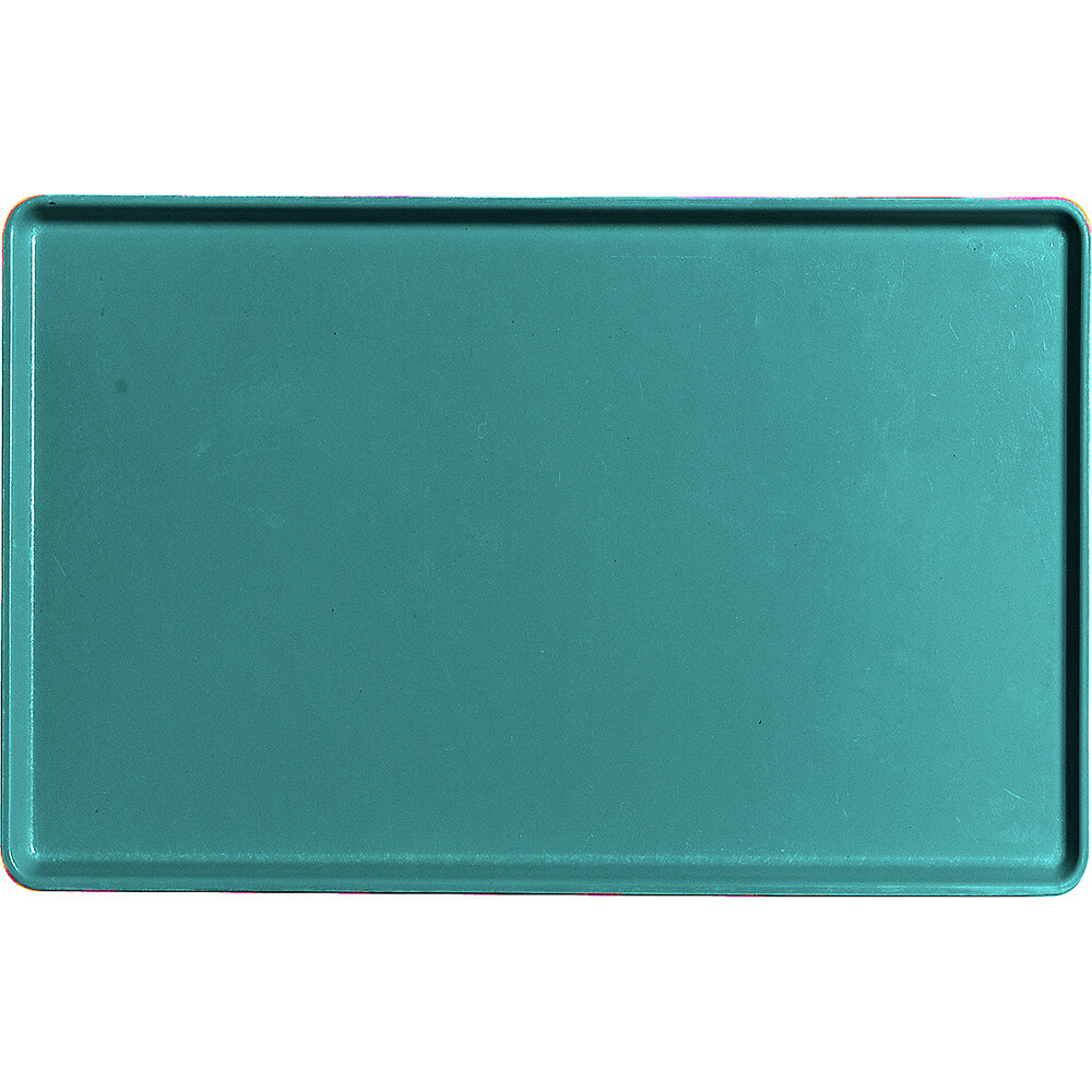 "Teal, 12"" x 19"" Healthcare Food Trays, Low Profile, 12/PK"