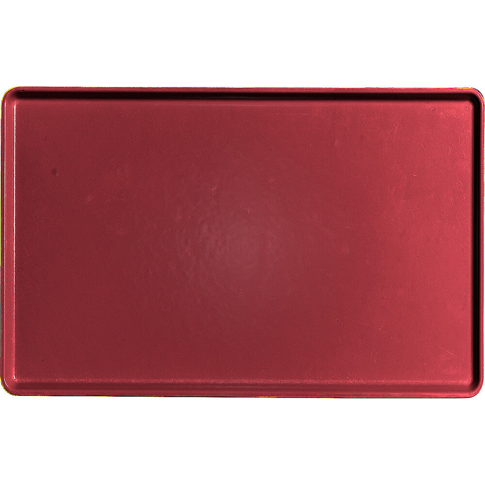 "Cherry Red, 12"" x 19"" Healthcare Food Trays, Low Profile, 12/PK"
