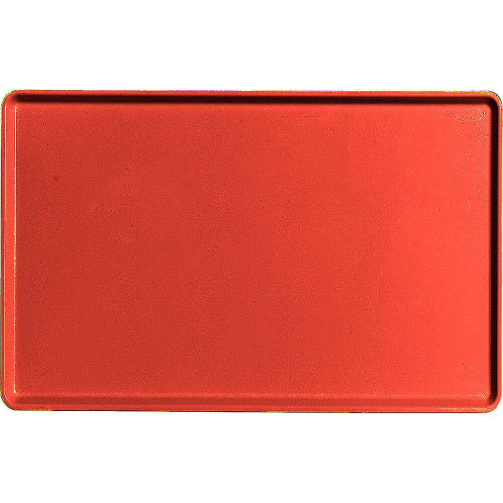 "Signal Red, 12"" x 19"" Healthcare Food Trays, Low Profile, 12/PK"