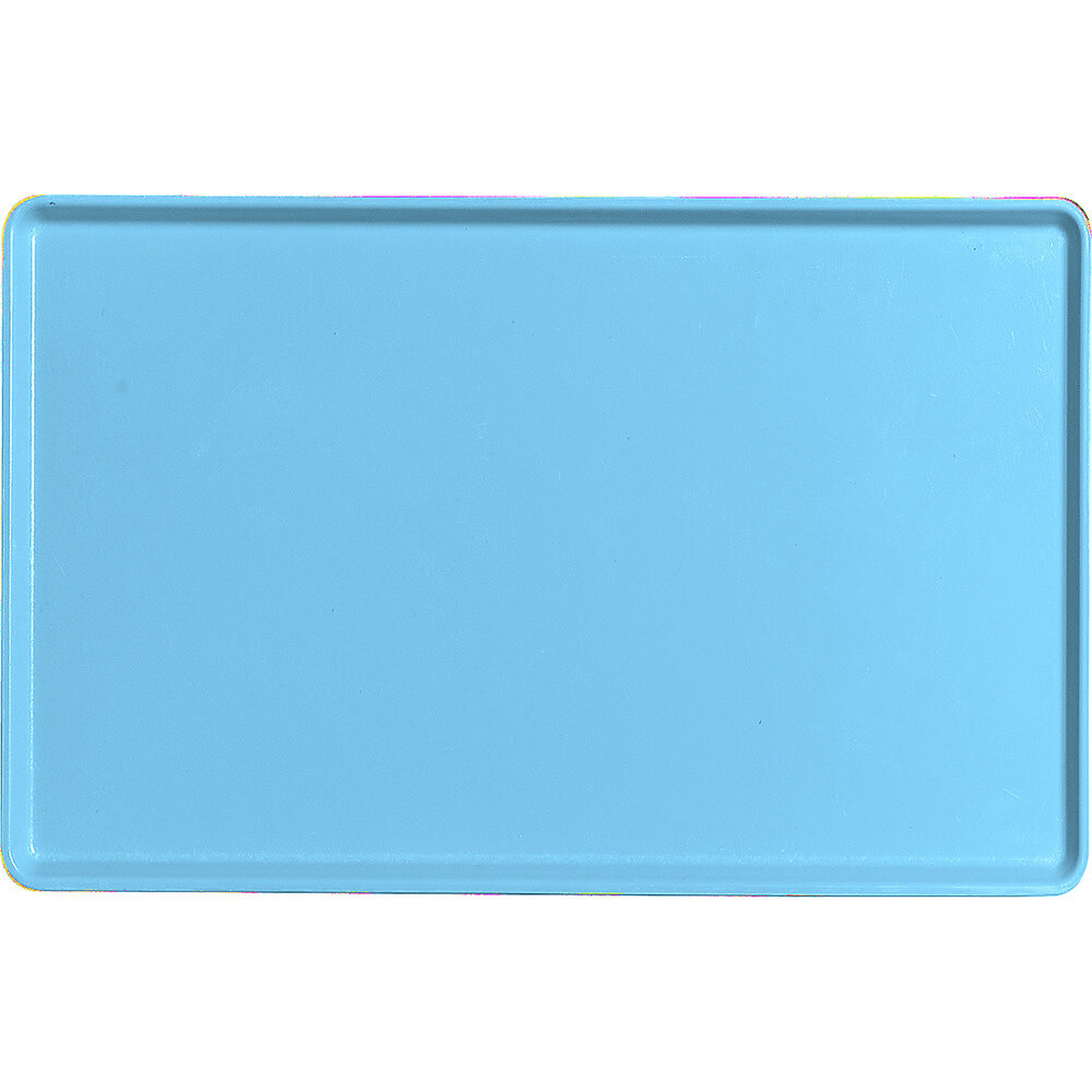 "Robin Egg Blue, 12"" x 19"" Healthcare Food Trays, Low Profile, 12/PK"