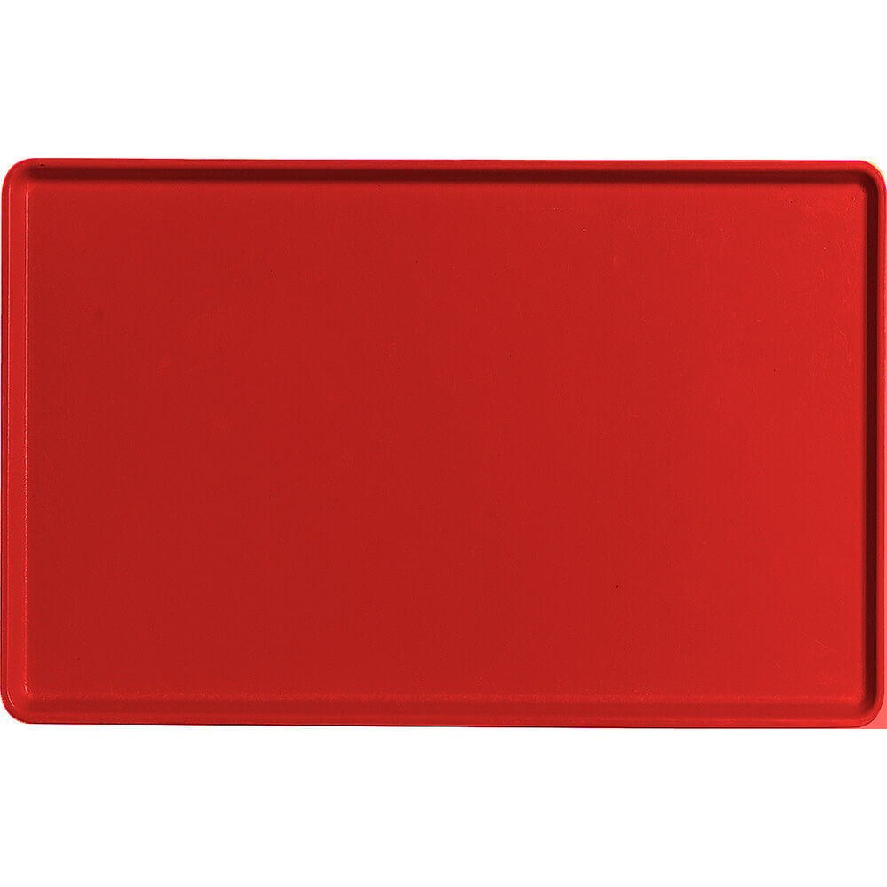 "Cambro Red, 12"" x 19"" Healthcare Food Trays, Low Profile, 12/PK"