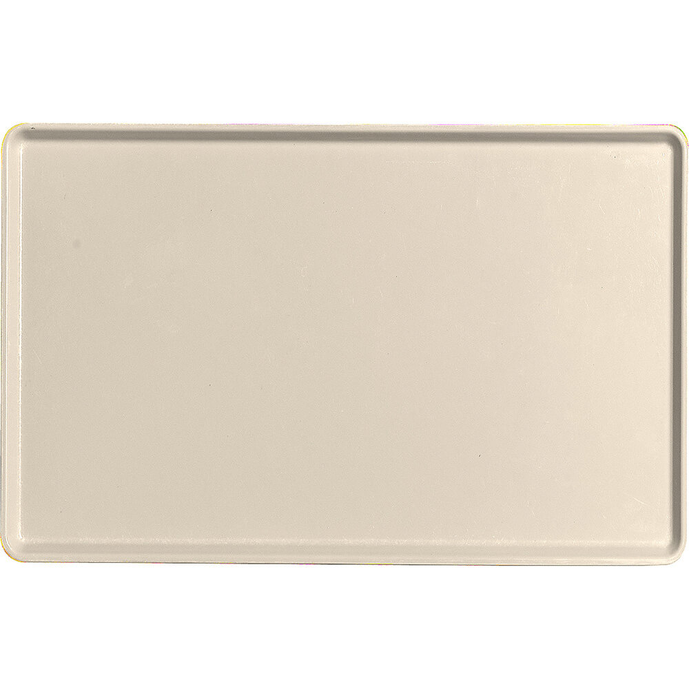 "Cameo Yellow, 12"" x 19"" Healthcare Food Trays, Low Profile, 12/PK"