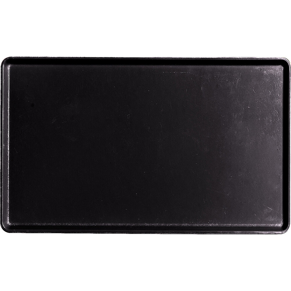 "Black, 12"" x 20"" Healthcare Food Trays, Low Profile, 12/PK"