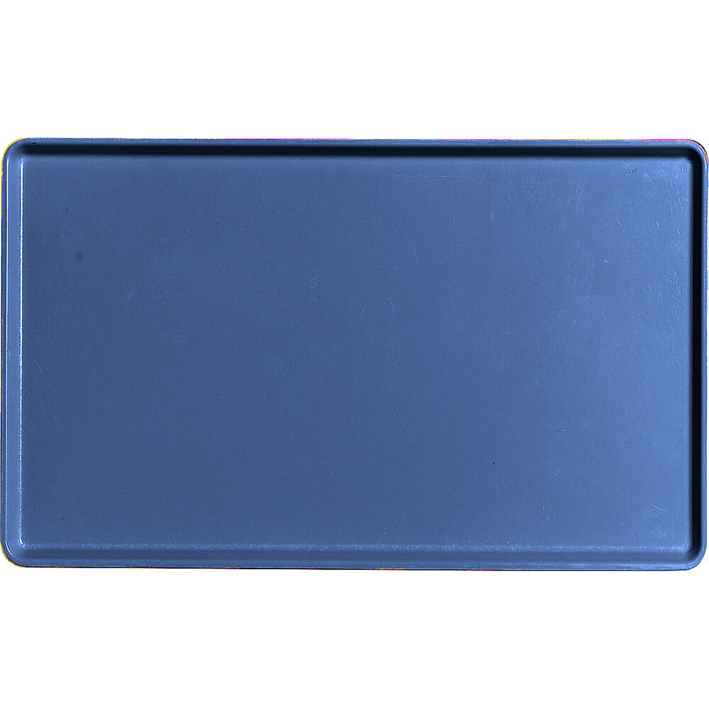 "Amazon Blue, 12"" X 20"" Healthcare Food Trays, Low Profile, 12/PK"