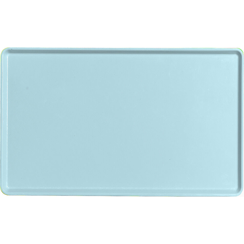 "Sky Blue, 12"" x 20"" Healthcare Food Trays, Low Profile, 12/PK"