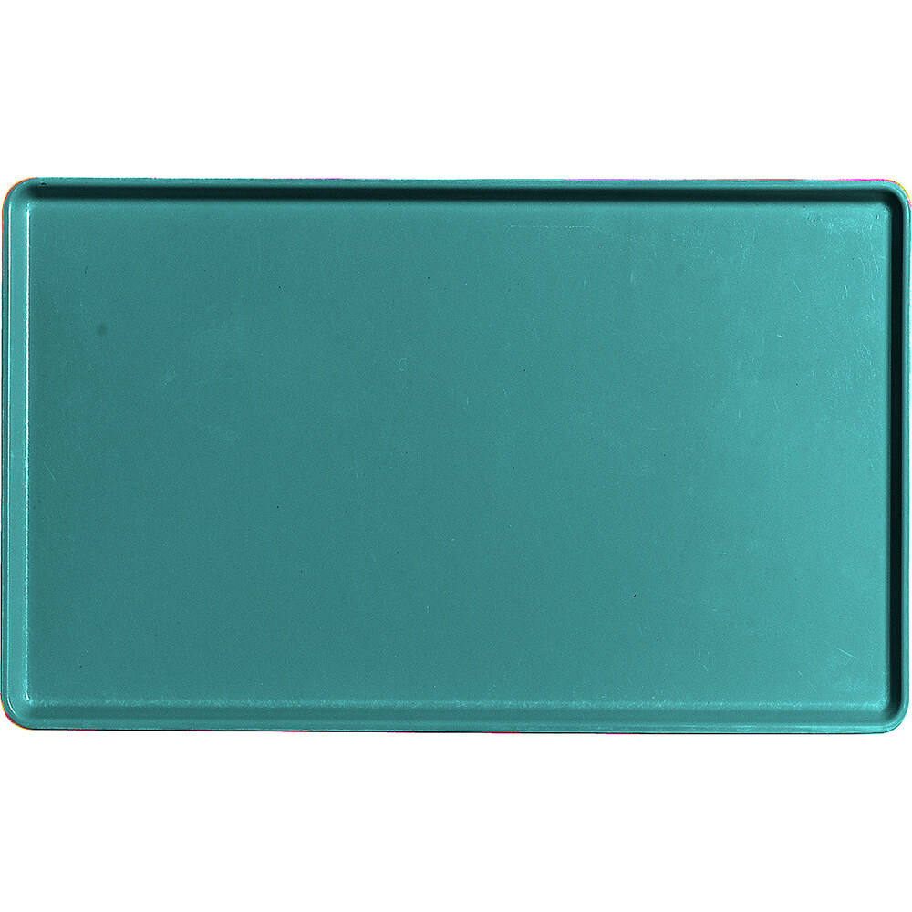 "Teal, 12"" x 20"" Healthcare Food Trays, Low Profile, 12/PK"