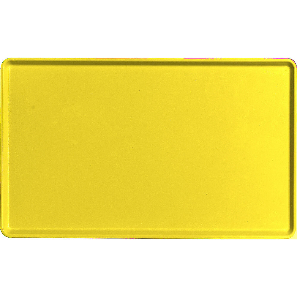 "Mustard, 12"" x 20"" Healthcare Food Trays, Low Profile, 12/PK"