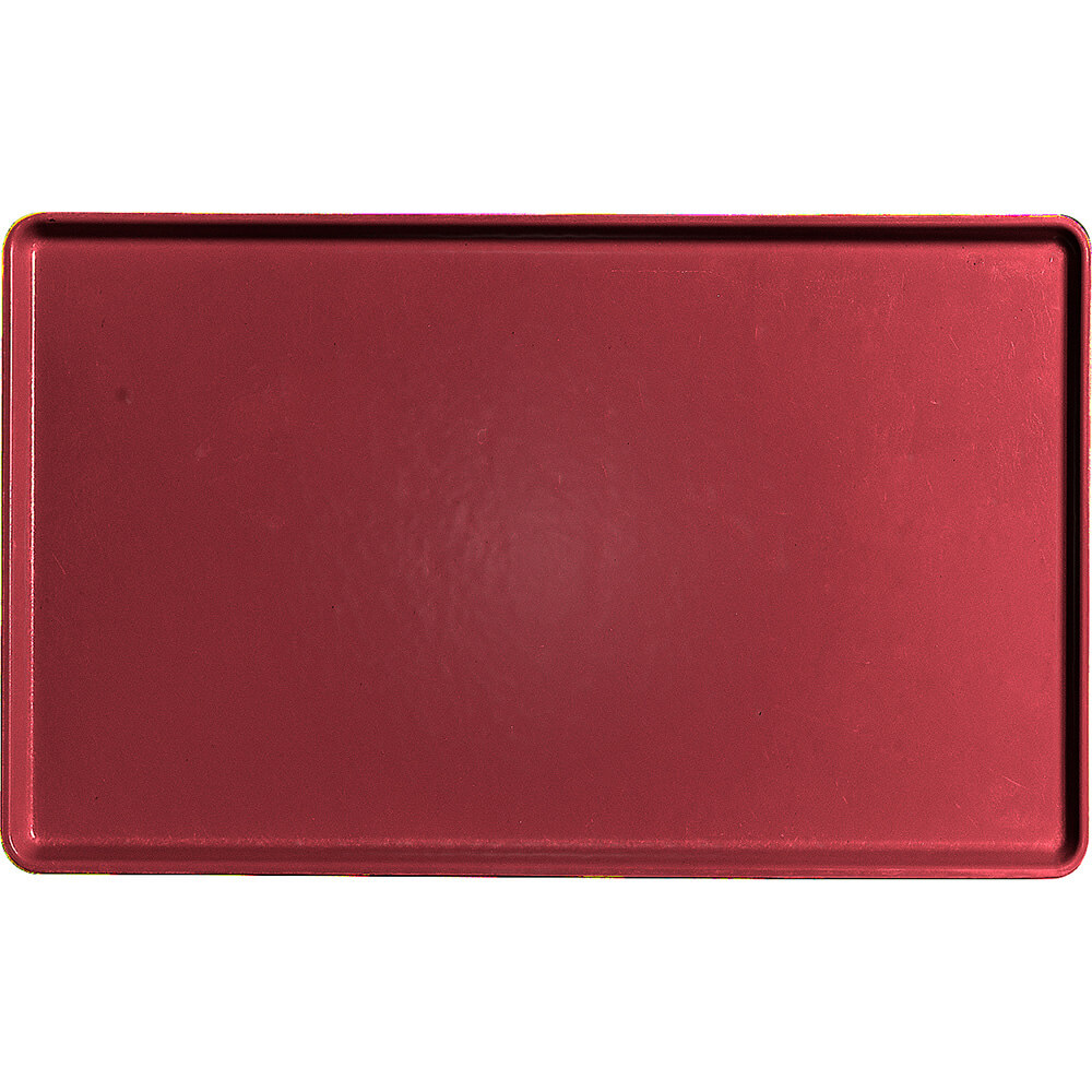 "Cherry Red, 12"" x 20"" Healthcare Food Trays, Low Profile, 12/PK"