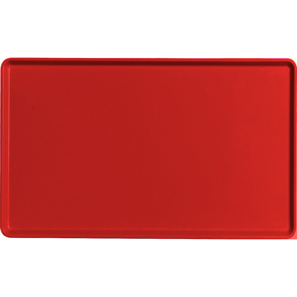"Cambro Red, 12"" x 20"" Healthcare Food Trays, Low Profile, 12/PK"