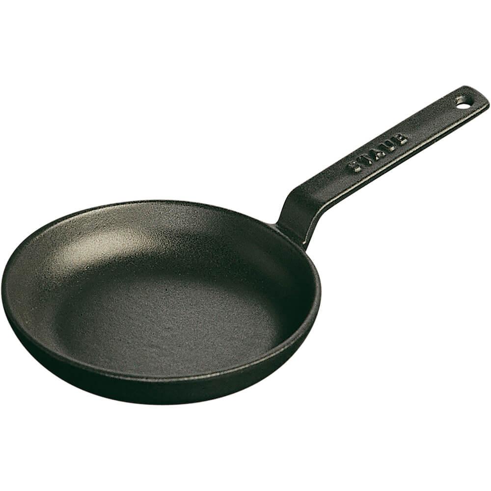 Staub Black Matte 4 3 4 Quot Mini Cast Iron Frying Pan 1221223