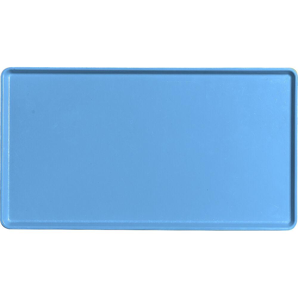 "Horizon Blue, 12"" x 22"" Healthcare Food Trays, Low Profile, 12/PK"