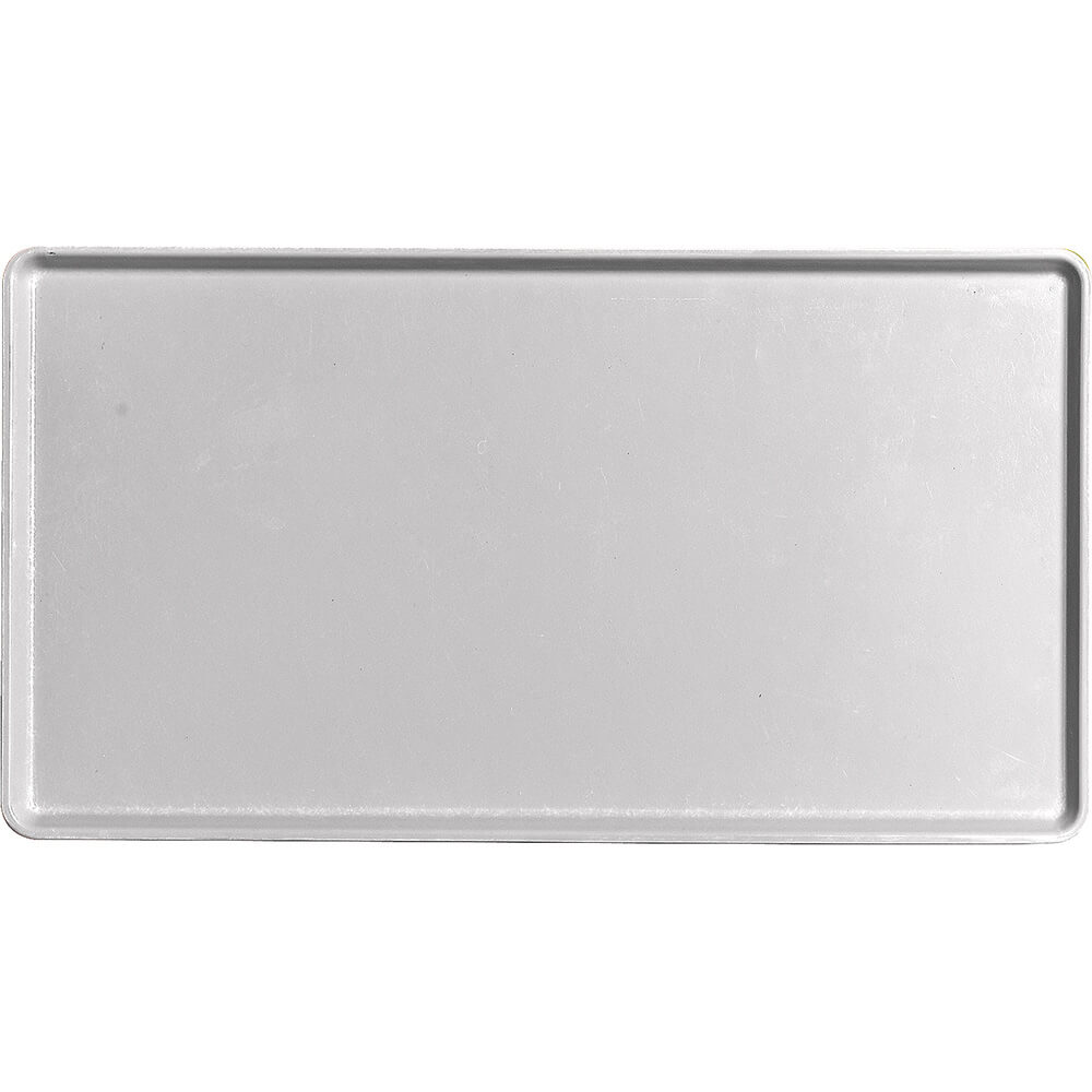 "Pearl Gray, 12"" x 22"" Healthcare Food Trays, Low Profile, 12/PK"