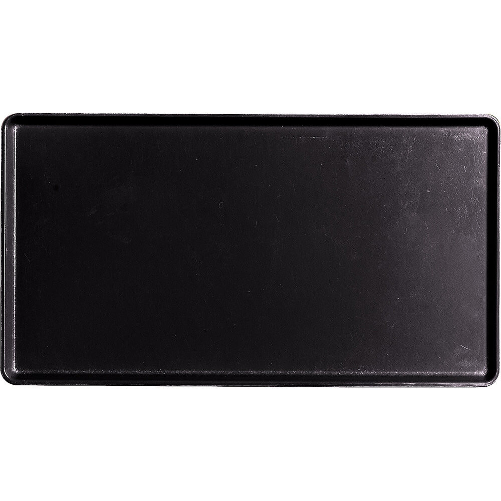 "Black, 12"" x 22"" Healthcare Food Trays, Low Profile, 12/PK"