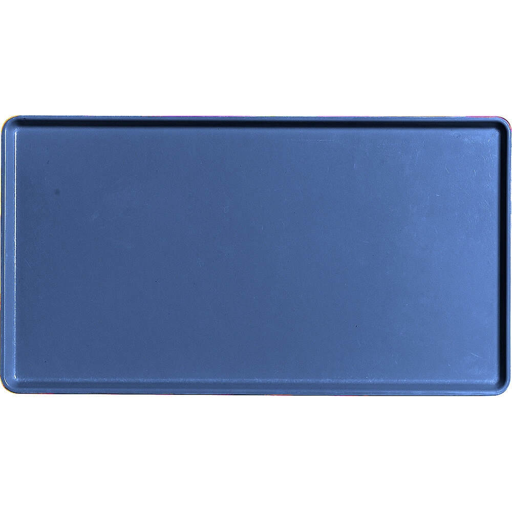"Amazon Blue, 12"" X 22"" Healthcare Food Trays, Low Profile, 12/PK"