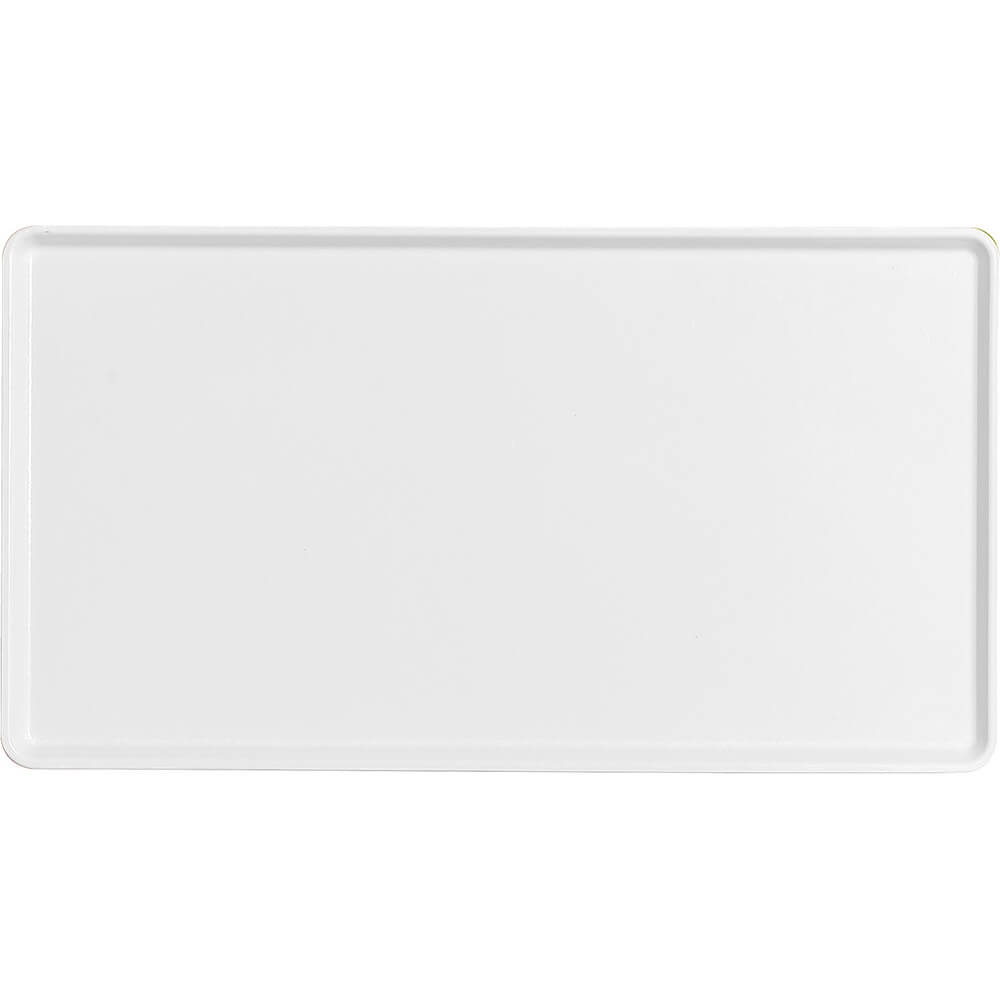 "White, 12"" x 22"" Healthcare Food Trays, Low Profile, 12/PK"