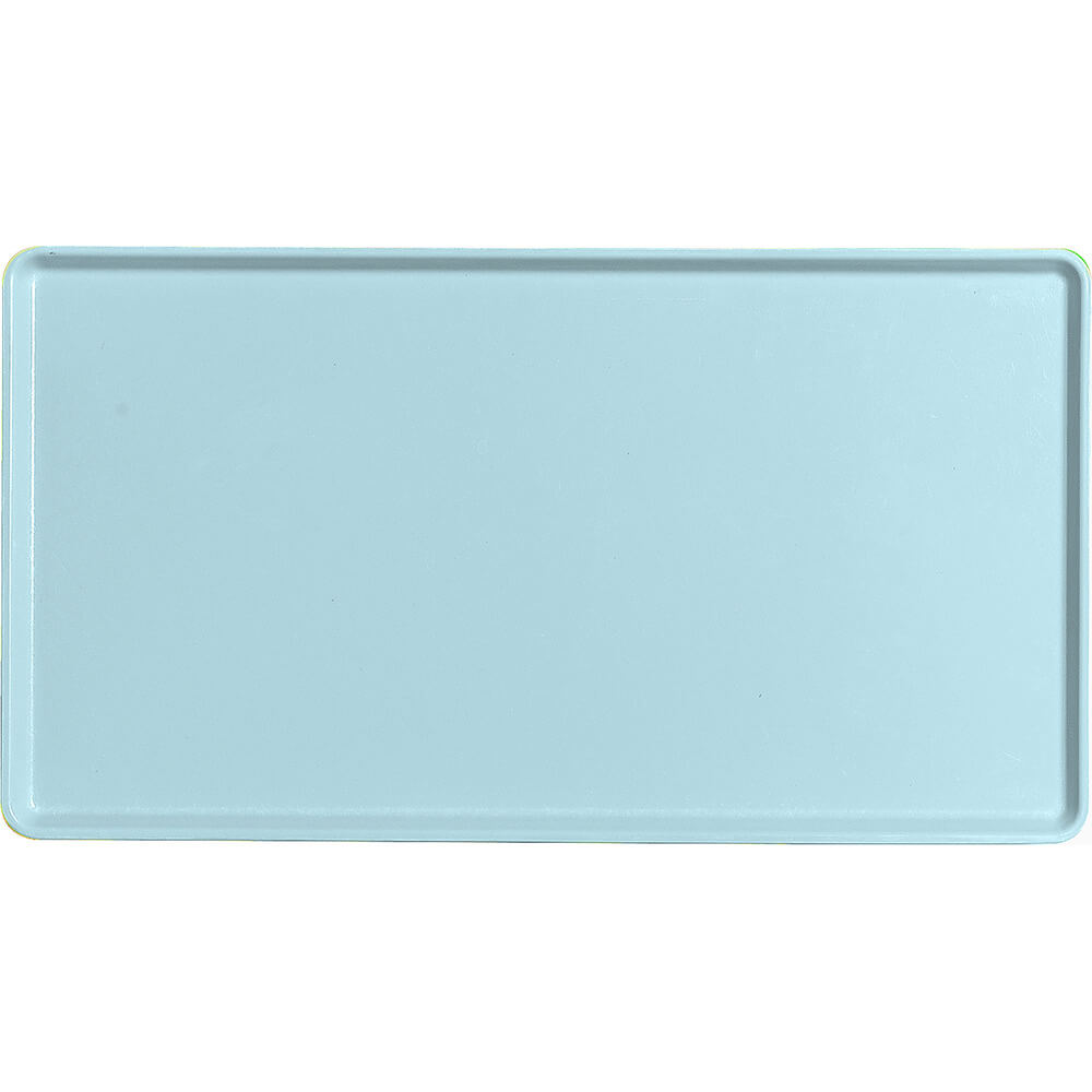 "Sky Blue, 12"" x 22"" Healthcare Food Trays, Low Profile, 12/PK"