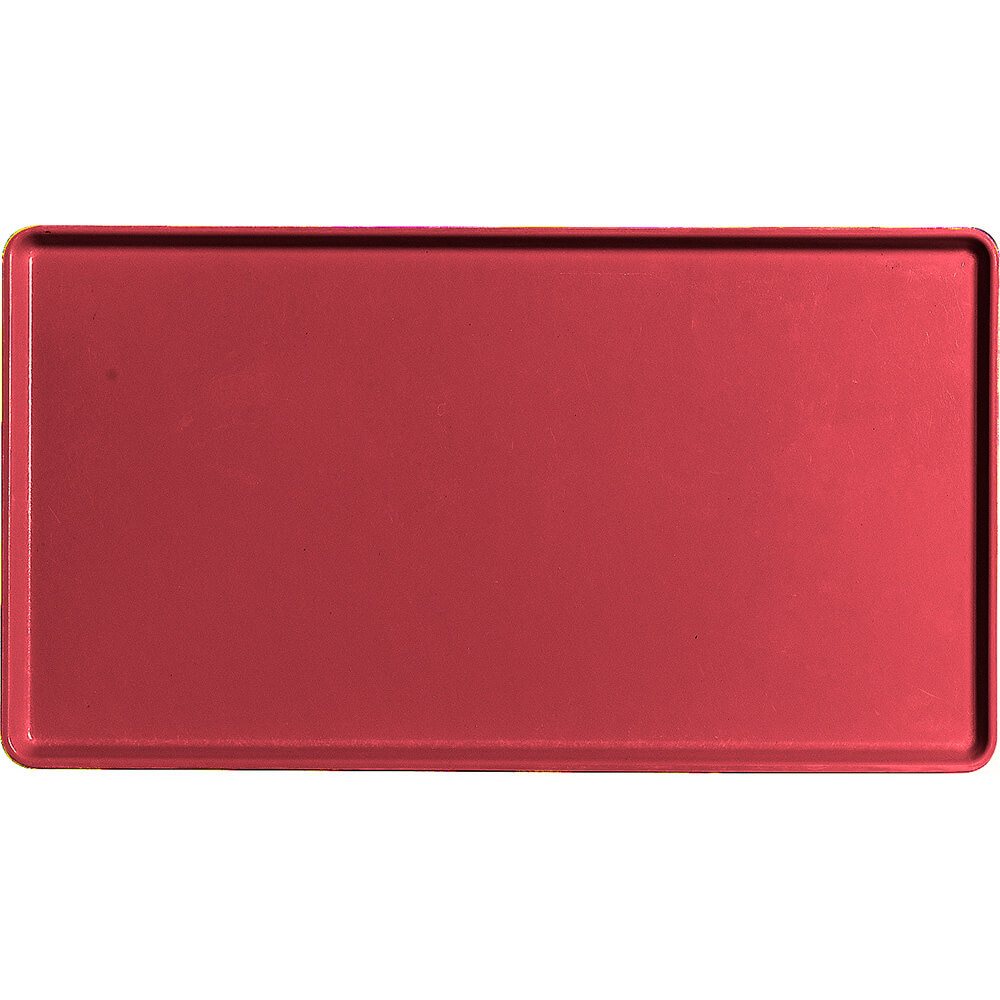 """Ever Red, 12"""" x 22"""" Healthcare Food Trays, Low Profile, 12/PK"""