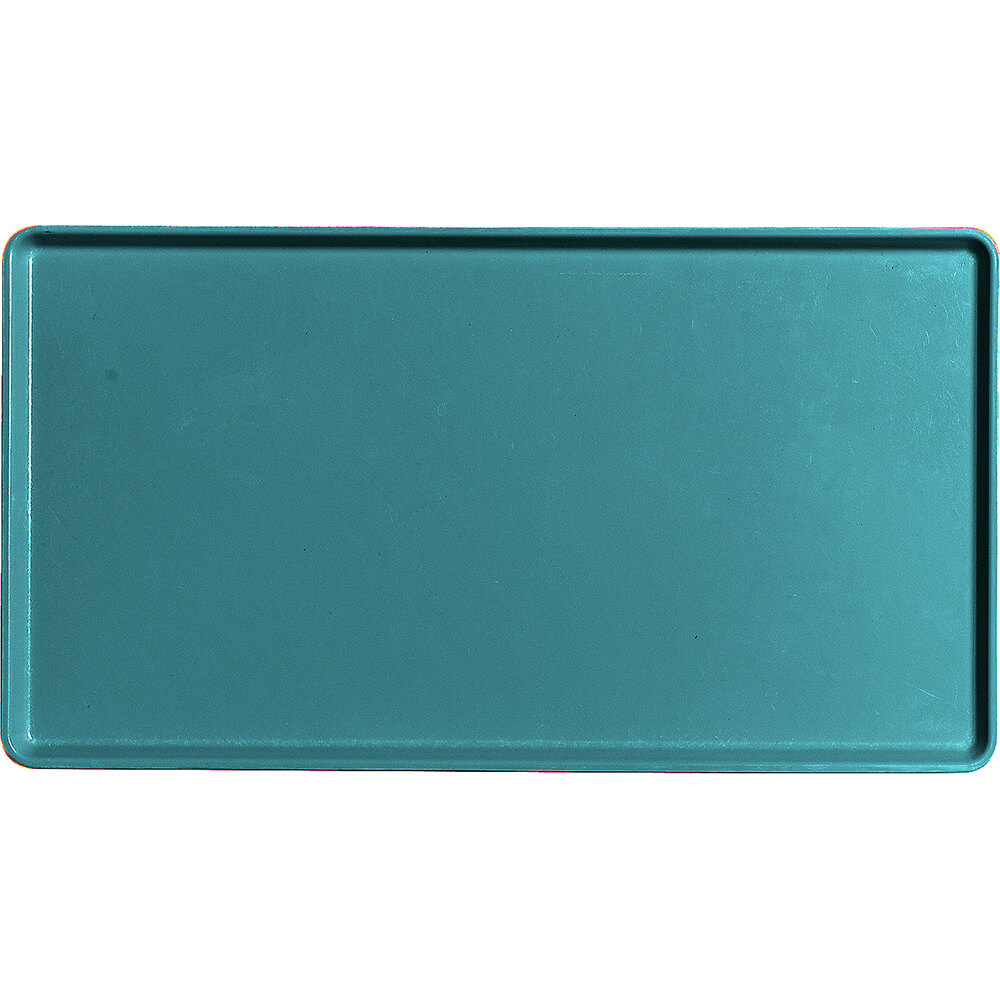 "Slate Blue, 12"" x 22"" Healthcare Food Trays, Low Profile, 12/PK"