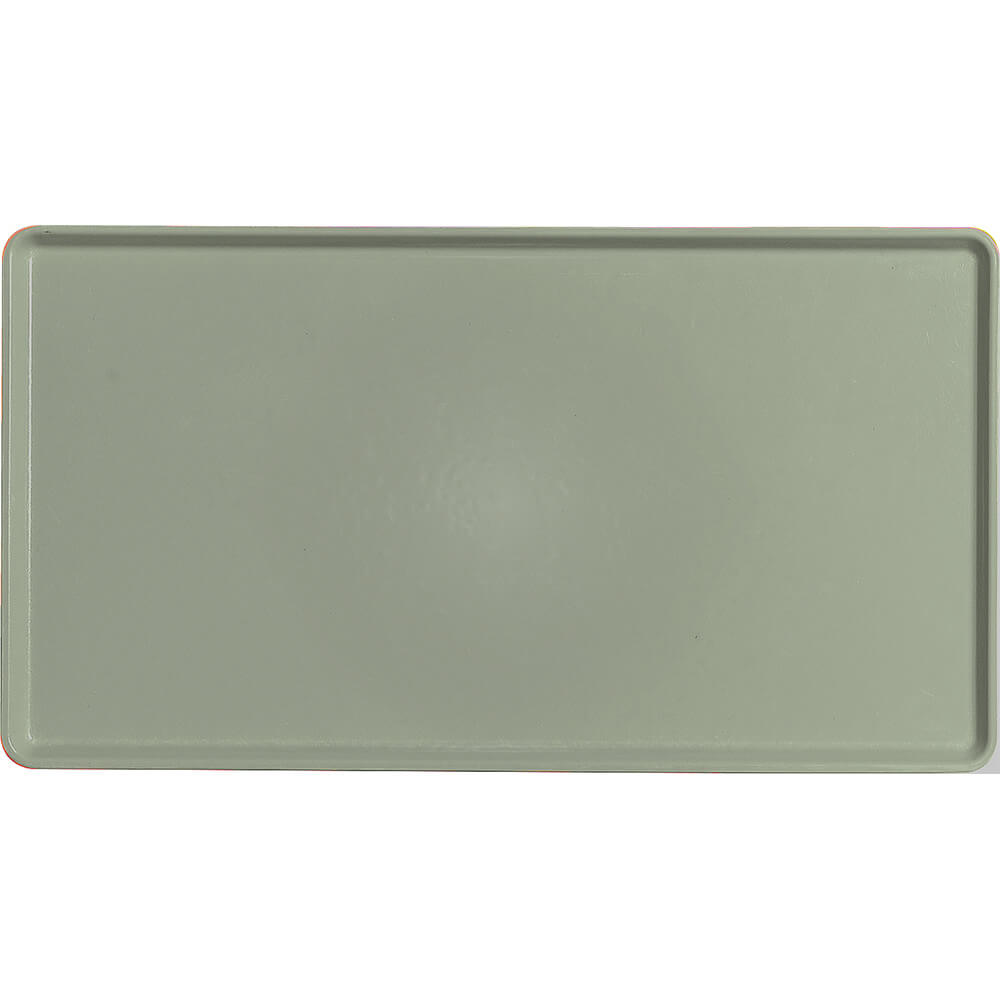 "Olive Green, 12"" x 22"" Healthcare Food Trays, Low Profile, 12/PK"