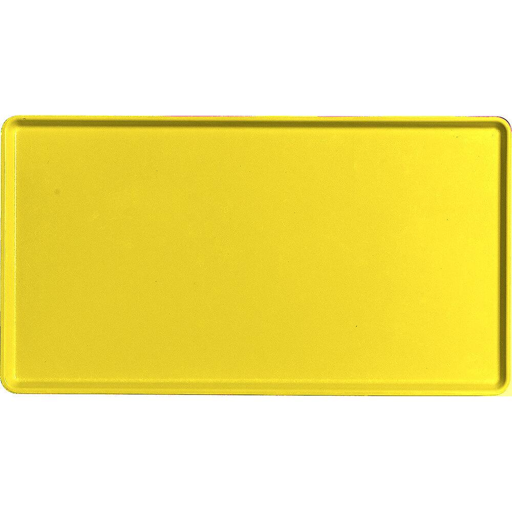"Mustard, 12"" x 22"" Healthcare Food Trays, Low Profile, 12/PK"
