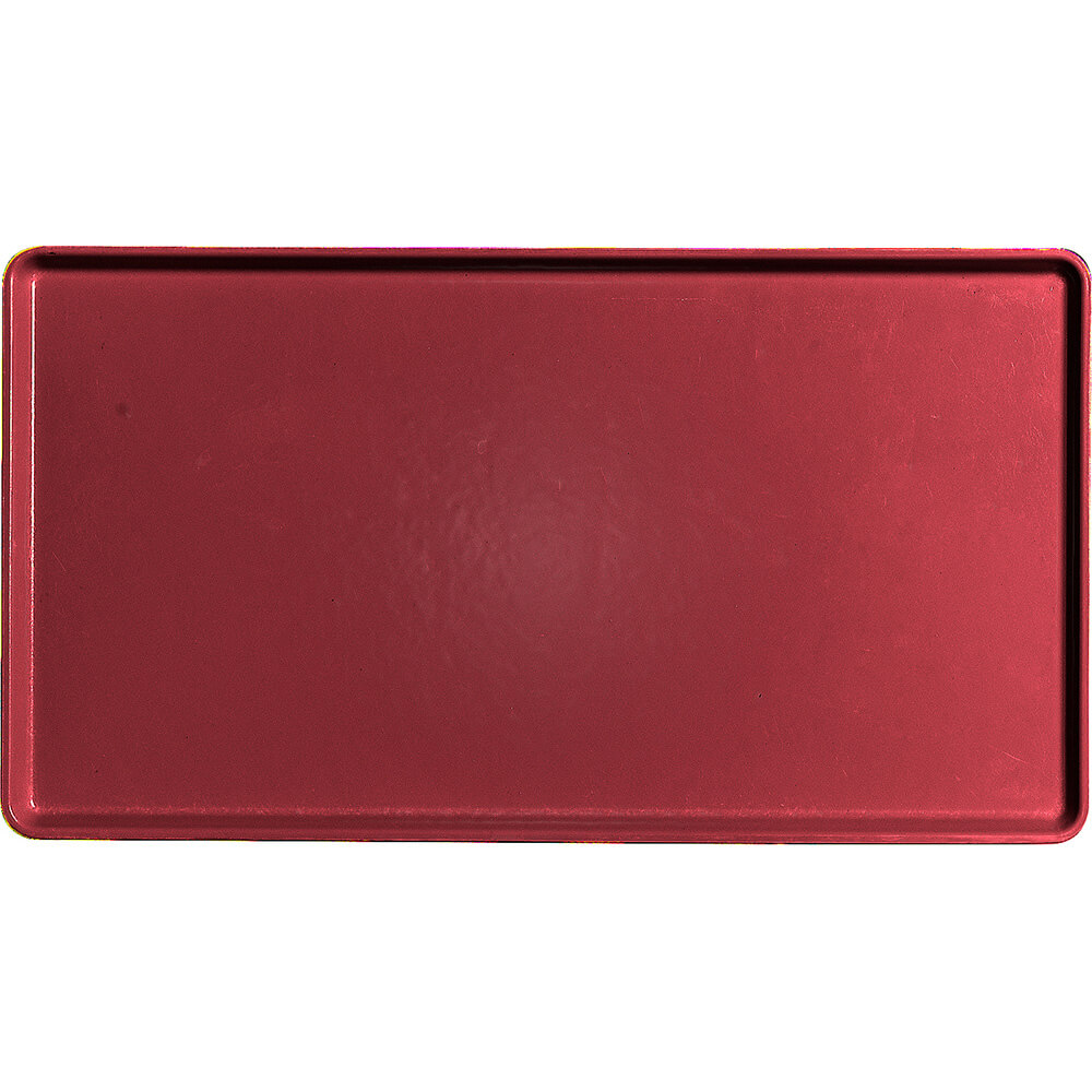 "Cherry Red, 12"" x 22"" Healthcare Food Trays, Low Profile, 12/PK"