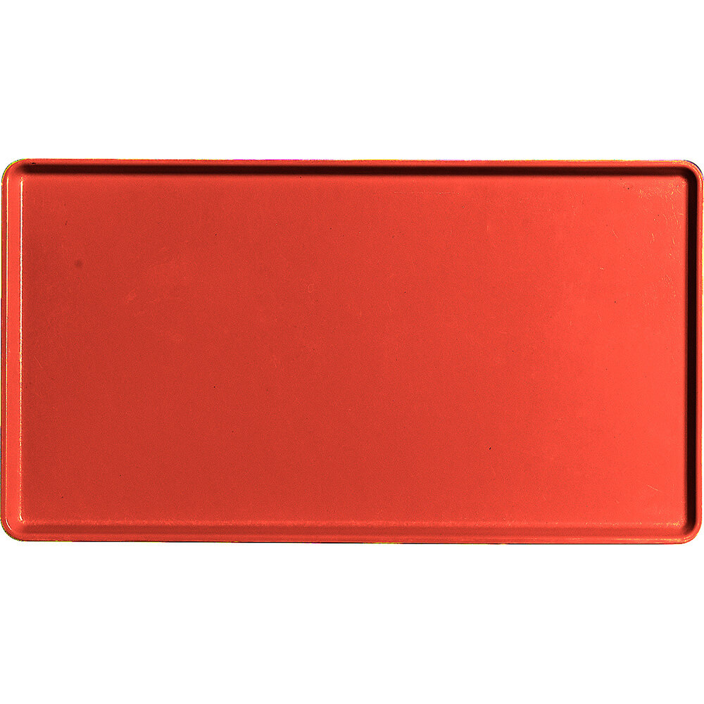 """Signal Red, 12"""" x 22"""" Healthcare Food Trays, Low Profile, 12/PK"""