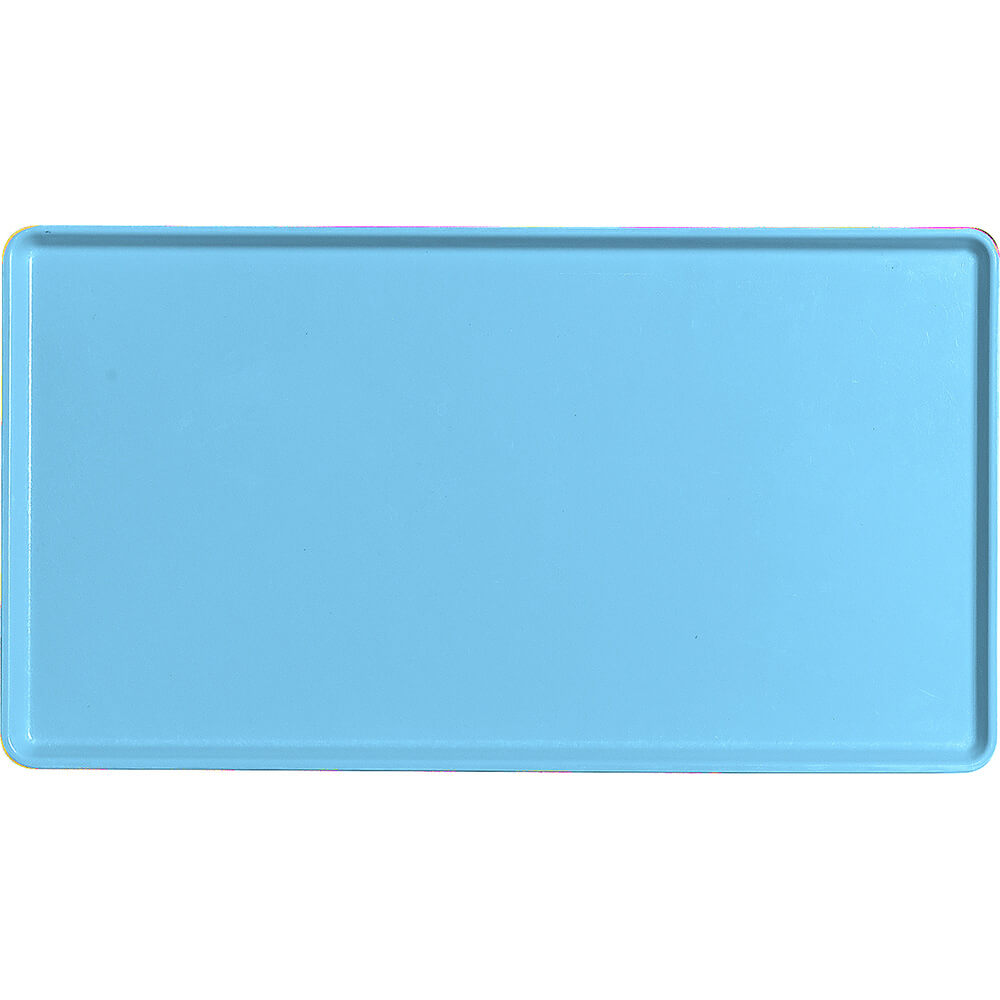 "Robin Egg Blue, 12"" x 22"" Healthcare Food Trays, Low Profile, 12/PK"